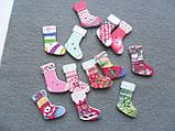 Зеленый носочек для подарков, пуговица, фото 2