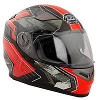 Шлем GEON 952 Интеграл Fantom Black/RED, фото 1