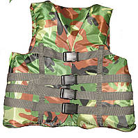 Камуфлированный спасательный жилет 70-90 кг