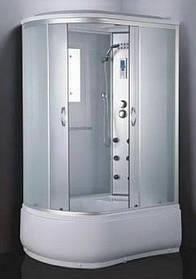Гидромассажный бокс BADICO ECO 69120-R правосторонний 120х80х215 с глубоким поддоном