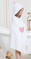 Детское полотенце 65х135  с капюшоном для девочки Жаклин от Guddini