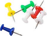 Кнопки-гвоздики цветные 50шт, фото 3