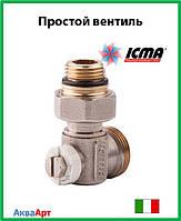 Icma Простой вентиль для панельного радиатора со встроенной термостатической группой Арт. 917