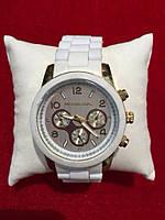 Часы женские Michael Kors , кварцевые белые силиконовый ремешок