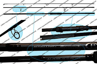 Карповое удилище ALIVIO DX SPECIMEN 11-300 3PCS (Удочки для рыбалки)