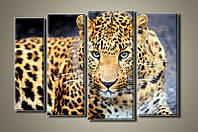 """""""Леопард"""" Модульная картина на холсте"""
