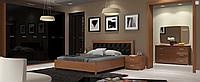 Спальня Белла (черный глянец /вишня бюзум) (с доставкой)