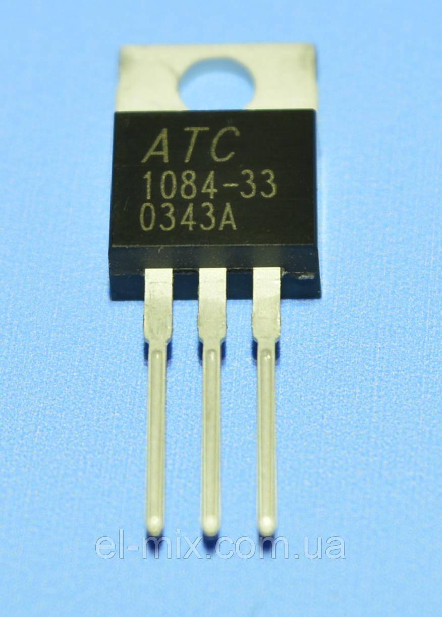 Микросхема ATC1084-33CT   TO220