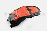 Чехол сиденья на мотоцикл   CB,CG,YBR125   (черно-красный)  (#0002)