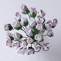 Бутон розы, св.сиреневые 10 мм - 5 шт