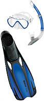 Набор Mares FLUIDA VENTO p.40/41 (маска + трубка + ласты) для дайвинга  (синий)