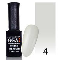 Гель-лак GGA №4 (жемчужно-серый, эмаль) 10 мл.