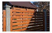 Сборный забор заполнение дерево