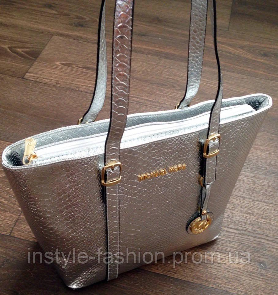 6d7f83df51e0 Сумка Michael kors серебрянная  купить недорого копия продажа, цена ...