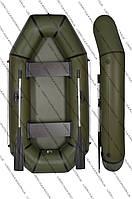 Надувная ПВХ лодка Хаки 245 L с поворотной уключиной