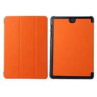 Кожаный чехол-книжка для Samsung Galaxy Tab A 8.0 T350 с функцией подставки Tri-gold Оранжевый
