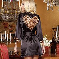 Эротический халат с леопардовым сердцем