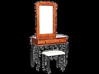 1102 Туалетний столик з пуфіком черешня антична