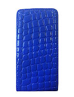 Чехол флип Atlanta Nokia X синий чешуя