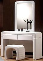 2017 Туалетка з дзеркалом + пуфік біла