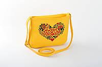 Патриотическая сумка из эко-кожи с вышивкой разные цвета, фото 1