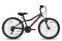 Велосипед 24'' PRIDE BRAVE 21 черно-красный матовый 2016