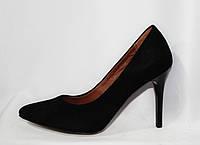 Женские туфли на шпильке из натуральной замши