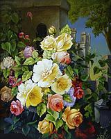 Фреска цветы — картины на штукатурке