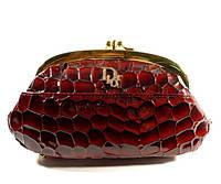 Косметичка женская кожаная Dior 916 бордовая, расцветки в наличии