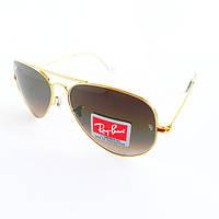 Очки солнцезащитные Aviator LARGE METAL с градиентом
