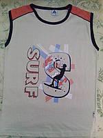 Майка-футболка бежевая на мальчика, фото 1
