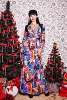 Платье женское Цветок-микродайвинг.