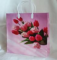 Пакет подарочный пластиковый с защелками, 30х31х10см (30\26) (цена за 1 шт. +4 грн.)