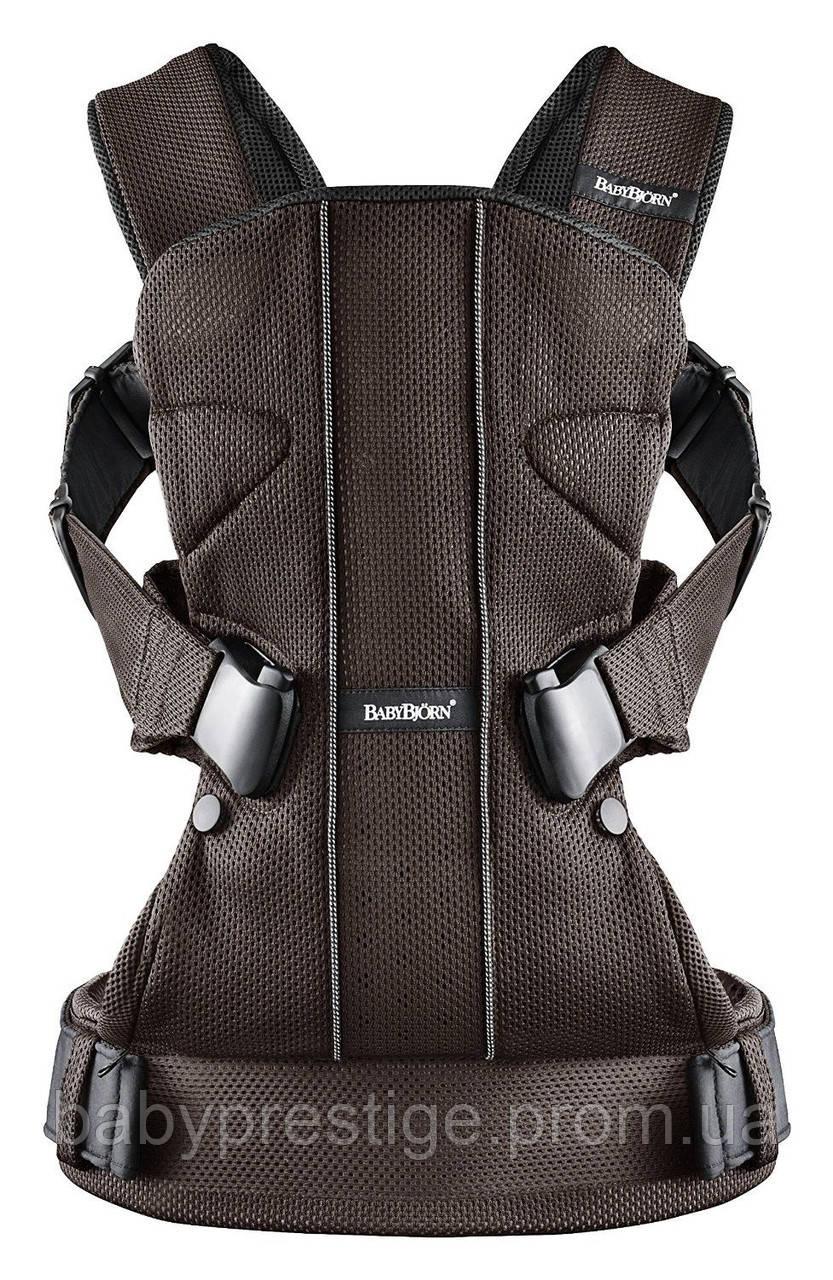 Эргономичный рюкзак-кенгуру Babybjorn Baby Carrier ONE Mesh, Brown/Black