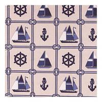 """Ткань """"Морские узлы"""" синяя для штор, покрывал"""