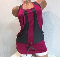 Майка женская серая с фиолетовым  Adidas (98324) код 151д
