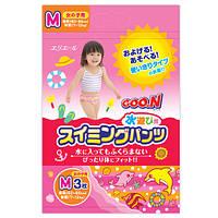 Трусики - подгузники для плавания Goo.N для девочек 7-12 кг, ростом 60-80 см (размер M, 3 шт) (753643)