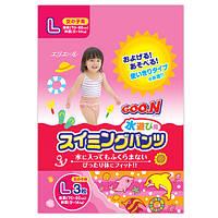 Трусики - подгузники для плавания Goo.N для девочек 9-14 кг, ростом 70-90 см (размер L, 3 шт) (753645)
