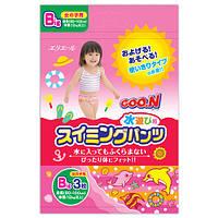 Трусики - подгузники для плавания Goo.N для девочек от 12 кг, ростом 80-100 см (размер Big (XL), 3 шт) (753647)