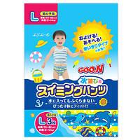 Трусики - подгузники для плавания Goo.N для мальчиков 9-14 кг, ростом 70-90 см (размер L, 3 шт) (753644)