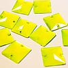 Пришивные квадратные неоновые стразы.22х22мм.Цена за 1шт