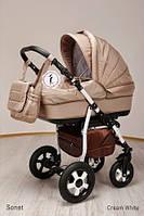 Универсальная коляска 2 в 1 Ajax Group Sonet new Cream