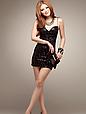 Эффектное мини платье из лайкры размер 42-44, фото 2