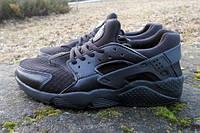 Модные  кроссовки Nike Huarache черные 43,44,46р