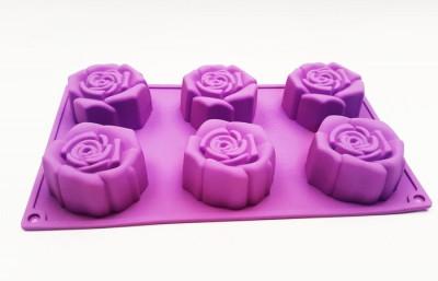 Форма силиконовая для выпечки Роза 6 новая