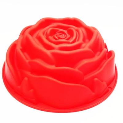 Форма силиконовая для выпечки Роза большая