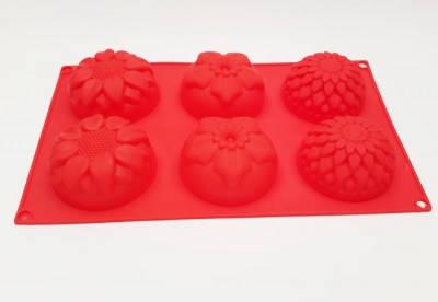 Форма для выпечки Цветы ассорти 6 мелкие