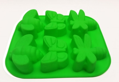 Форма силиконовая для выпечки Жуки большие 6