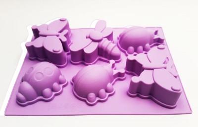Форма силиконовая для выпечки Жуки с ножками 6