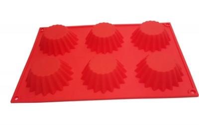 Форма силиконовая для выпечки Кекс острый 6